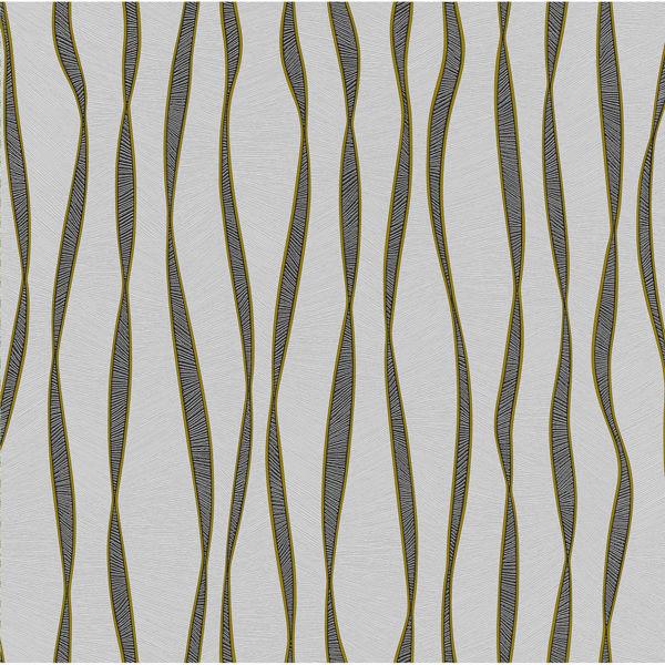 Снимка на Тапет 1345 хартиен акцент сив-злато /24 -К/